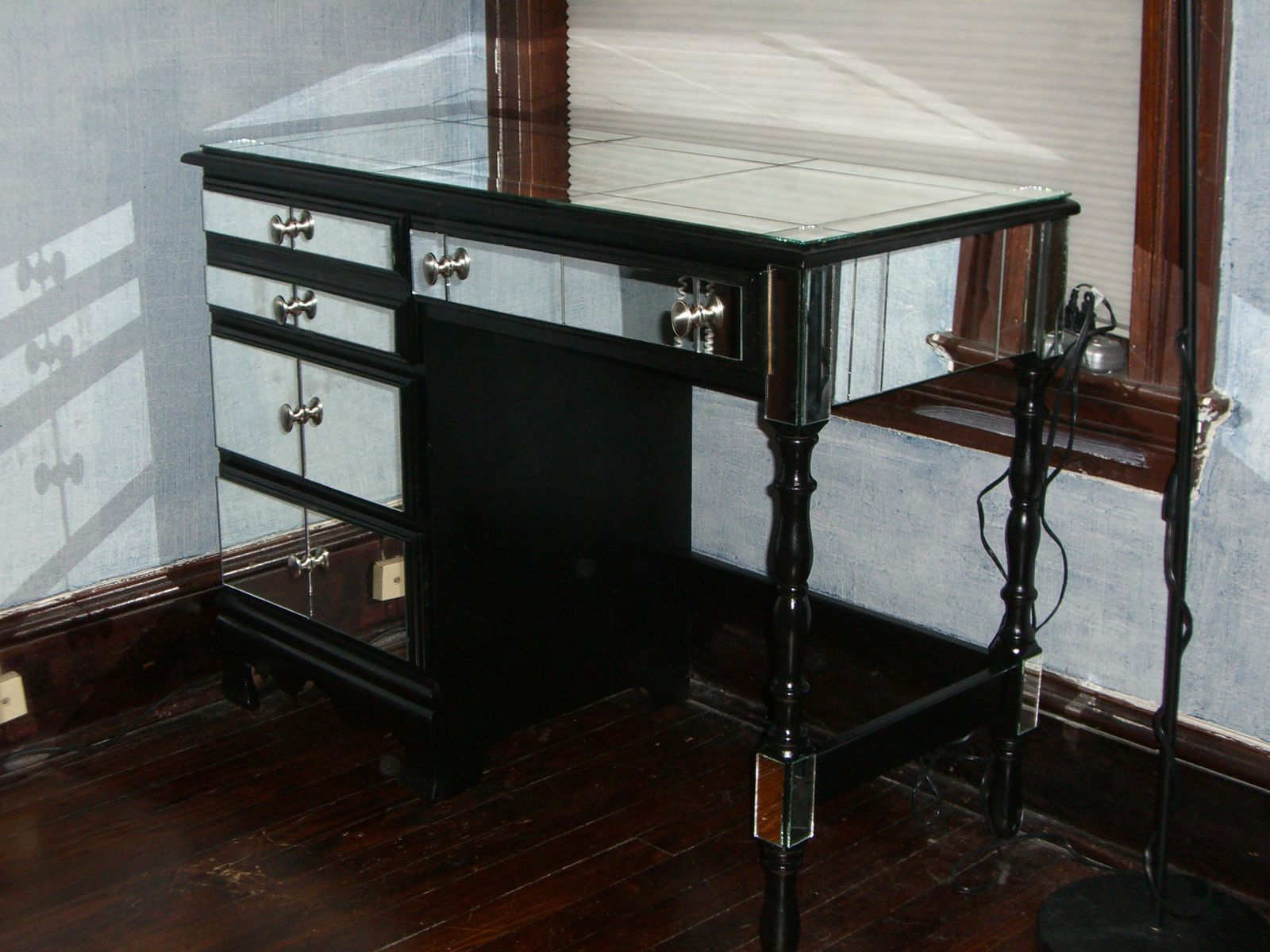 Black Vanity Table Without Mirror Makeup Vanity Table Without