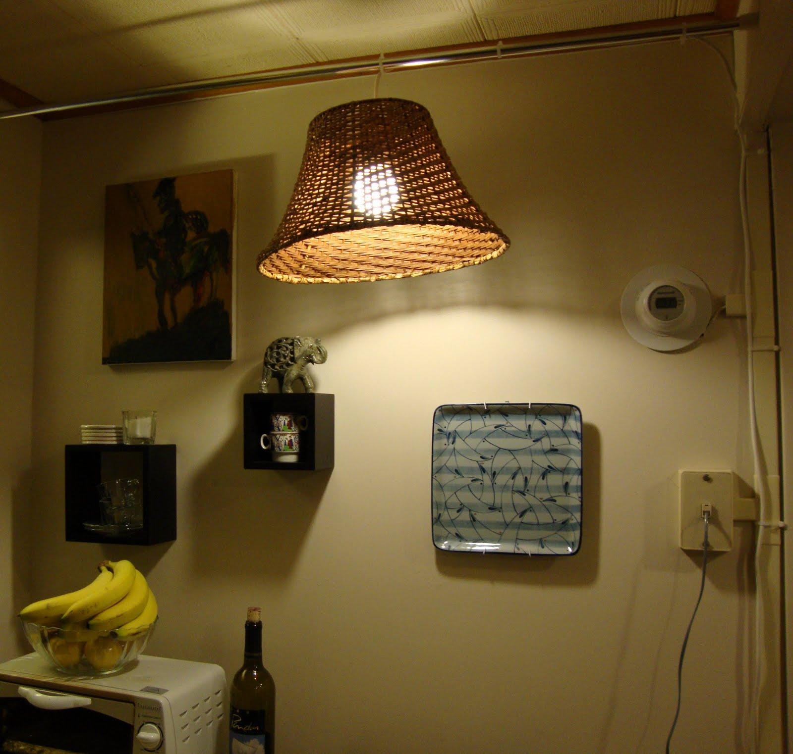 Tension Rod Hanging Lamp IKEA Hackers IKEA Hackers