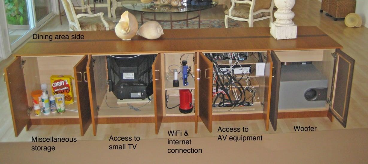 diy attic room ideas - A low audio video cabinet as room divider IKEA Hackers