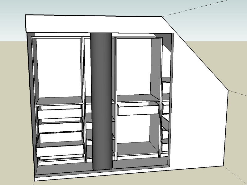 2 Door Cupboard Inside Designs walk-in closet using pax malm doors - ikea hackers - ikea hackers