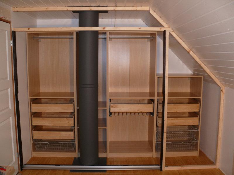 attic slanted roof closet ideas - Walk in closet using Pax Malm doors IKEA Hackers IKEA