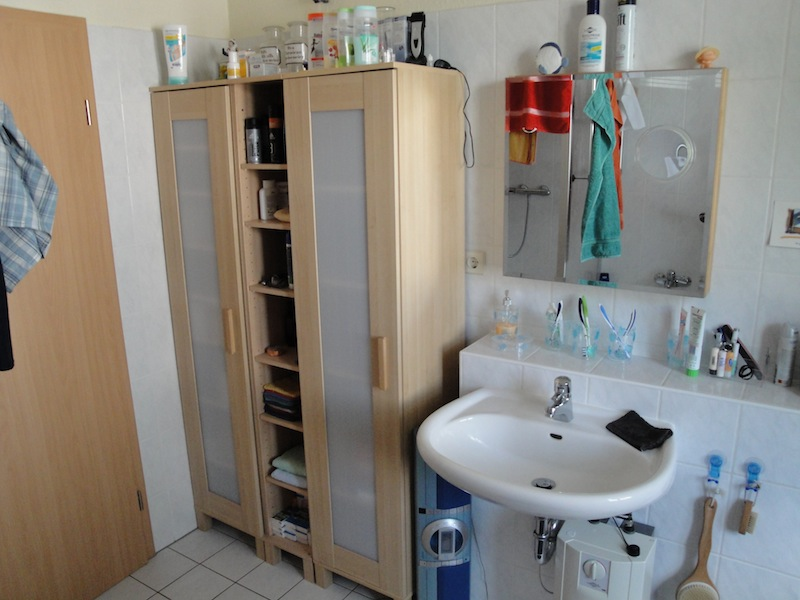 Ikea Magnarp Floor Lamp Natural ~ another ANEBODA! The bathroom cabinet is completely full again!  IKEA