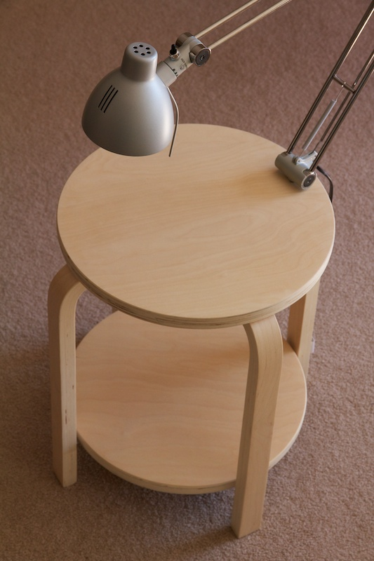 lamp i ve created a frosta side table with a built in light. Black Bedroom Furniture Sets. Home Design Ideas