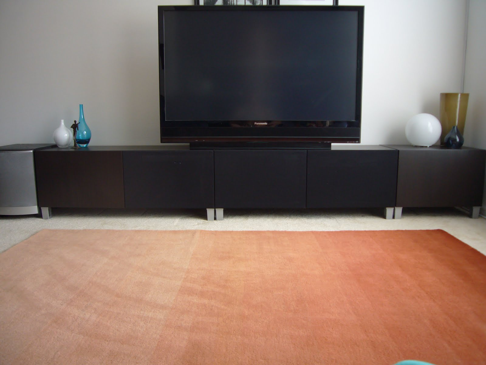 Contemporary Concealed Entertainment Center Ikea Hackers
