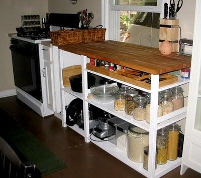 IVAR kitchen island hack
