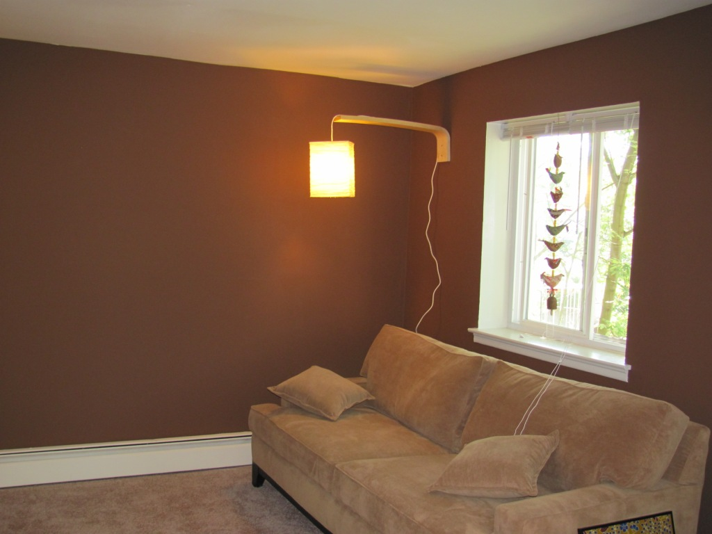 to secure the cord to the wall and paint it to match the wall color. Black Bedroom Furniture Sets. Home Design Ideas
