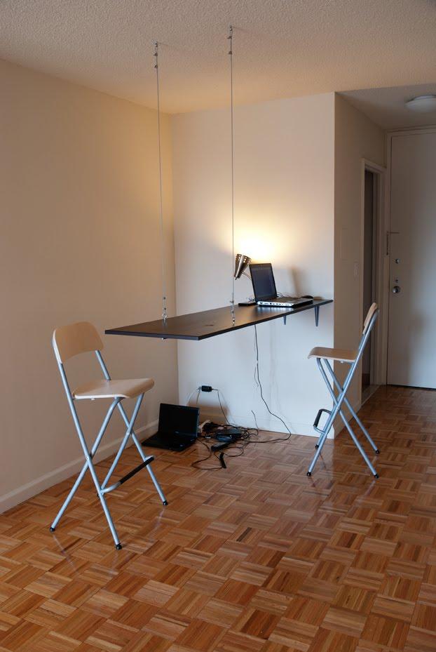 From closet door to dining bar ikea hackers ikea hackers - Tables hautes cuisine ...