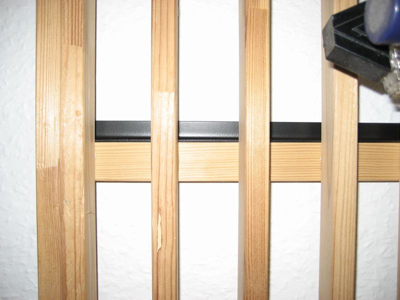 Ikea Mandal Wall Mounted Headboard ~ bed too the wall, be sure to use the right kind of plugs for your wall