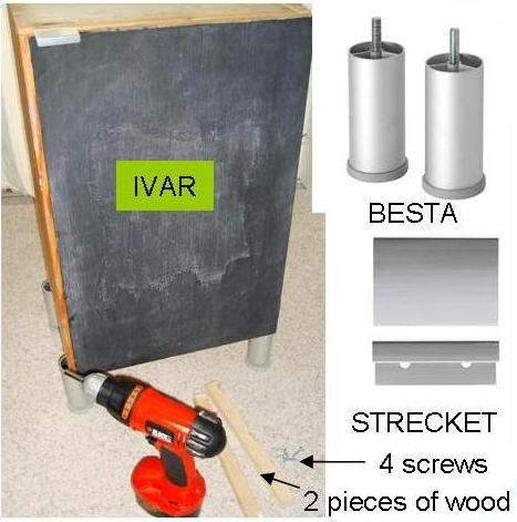 Small Cheap IVAR Hack From Cupboard To Low Cabinet IKEA