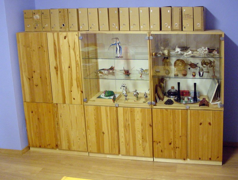 Ivar Cabinets Mounted On Wooden Supports