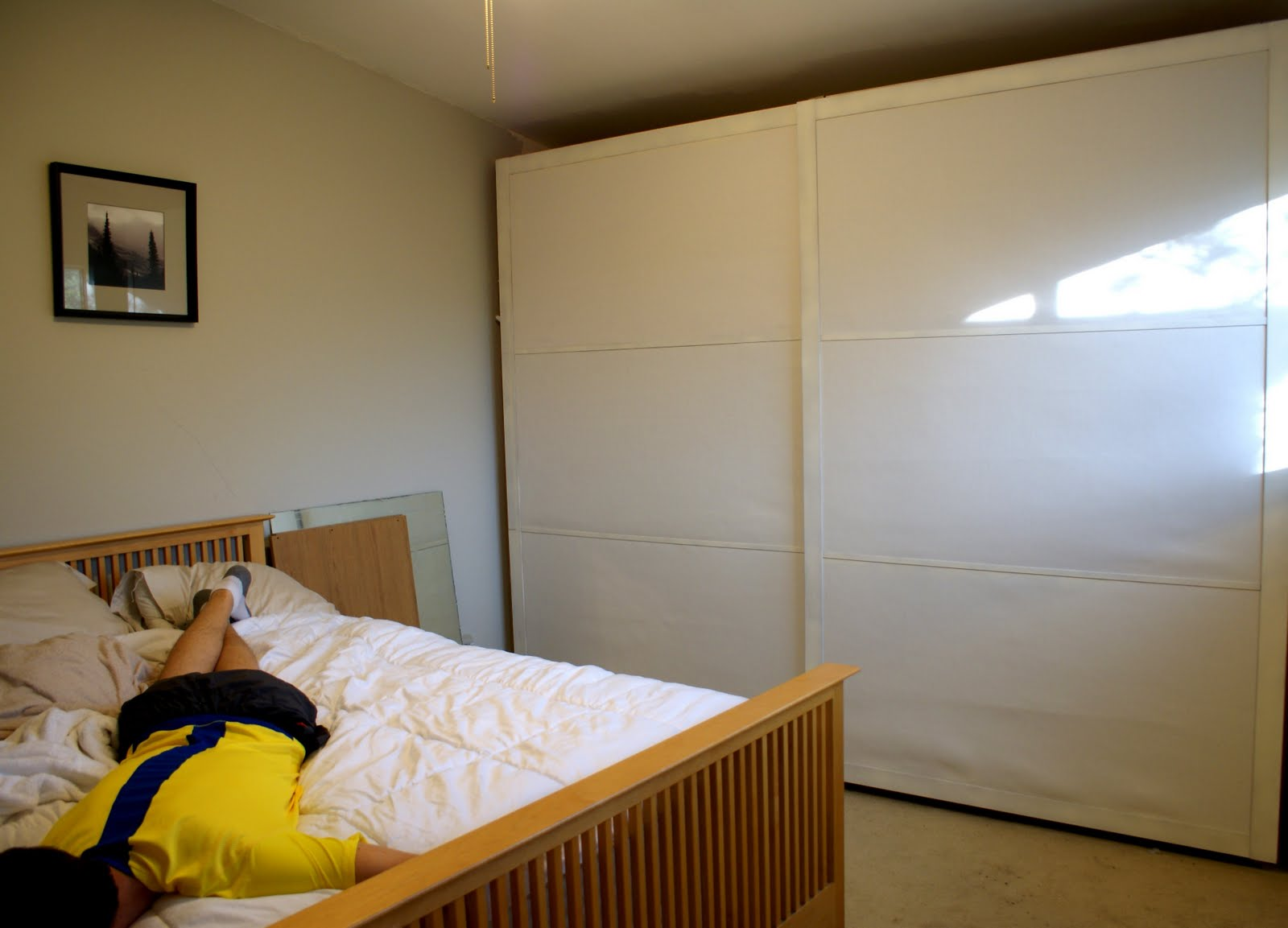 fixing the pax sliding door  ikea hackers  ikea hackers, Bedroom decor