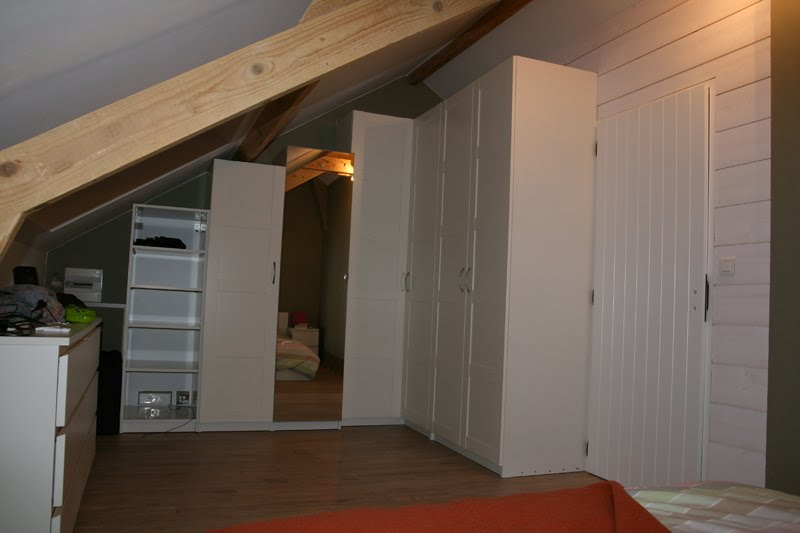 Attic Room Storage refitting an attic room - storage and room divider - ikea hackers