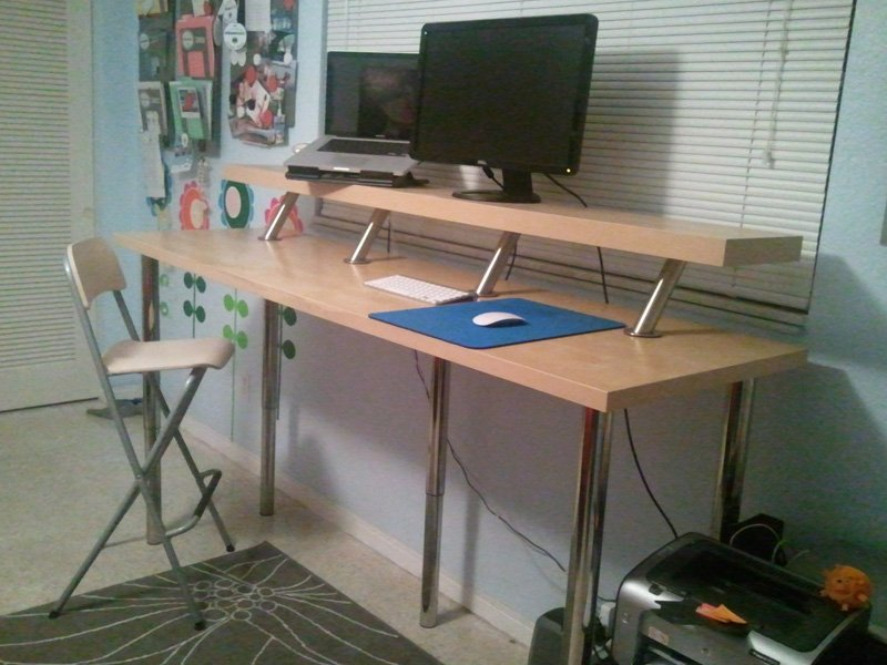 Wide Standing Desk IKEA Hackers