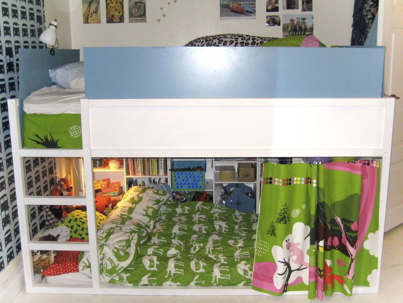 Kura Bed Transformed To Kingsize With Cosy Cave Ikea Hackers