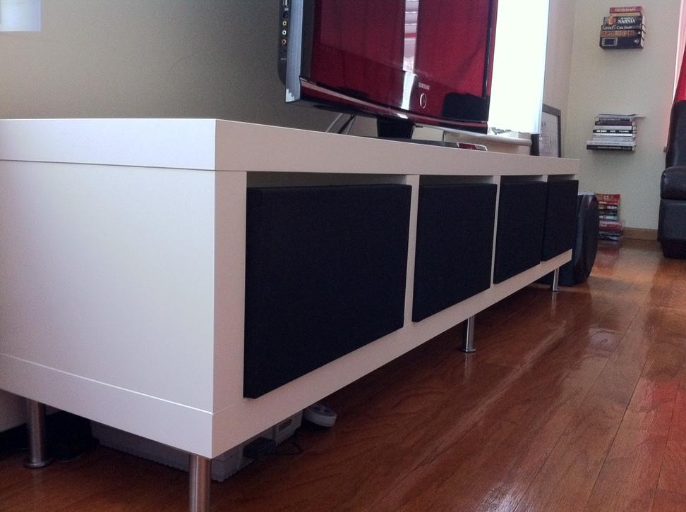 pretty nice 1cd54 2b270 Clean Minimalist TV Stand - IKEA Hackers