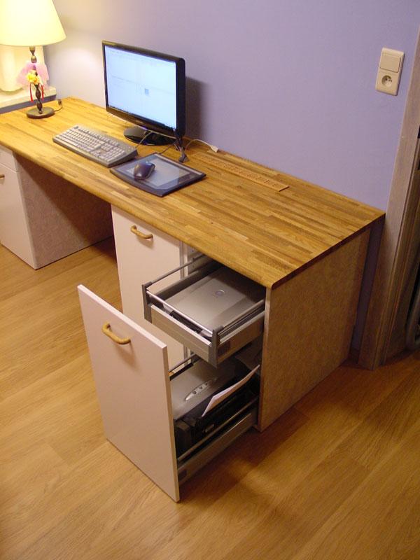 Custom computer desk ikea hackers ikea hackers - Customiser armoire ikea ...