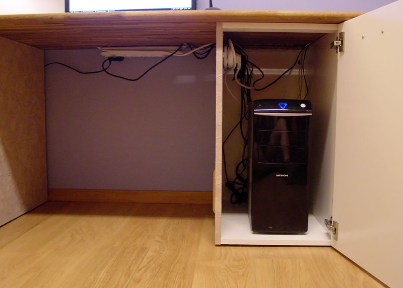 Custom computer desk - IKEA Hackers - IKEA Hackers
