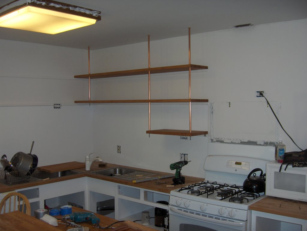 Butcher Block Countertop Kitchen shelving - IKEA Hackers