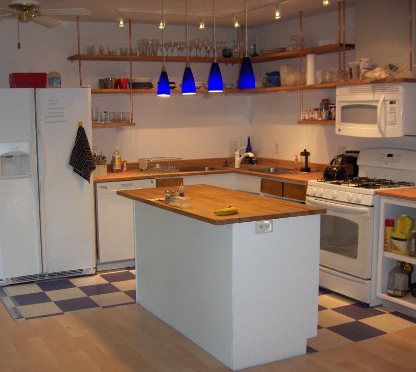 Butcher Block Countertop Kitchen Shelving