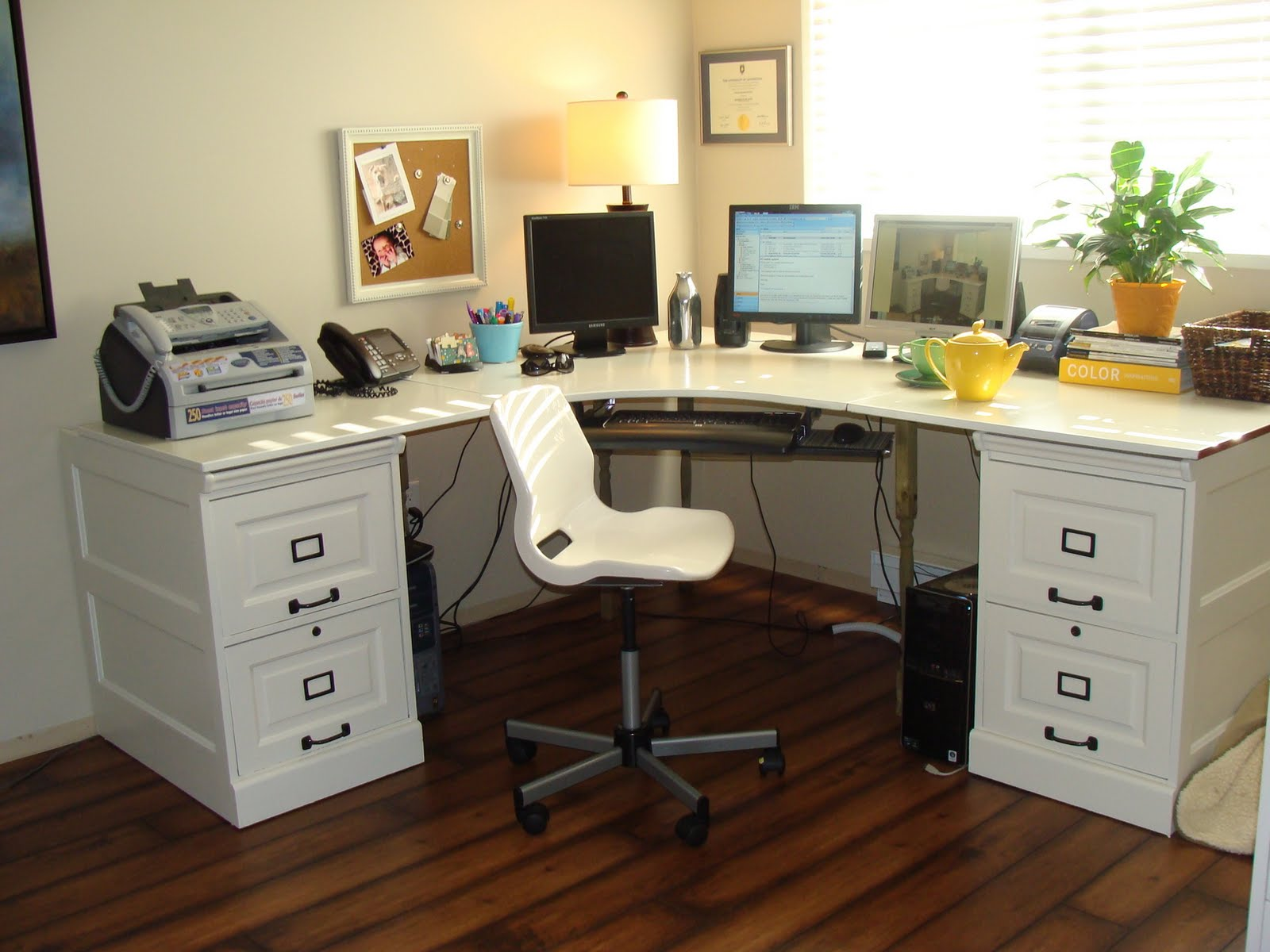Materials: Effective Desk and wood file cabinets