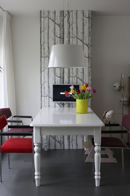 Tall Cabinet with storage at head of table
