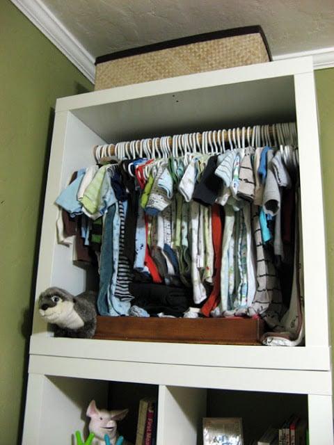Baby clothes closet
