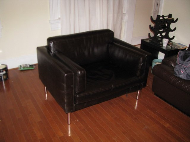 Sater 2 5 Seat Sofa To Leather Chair